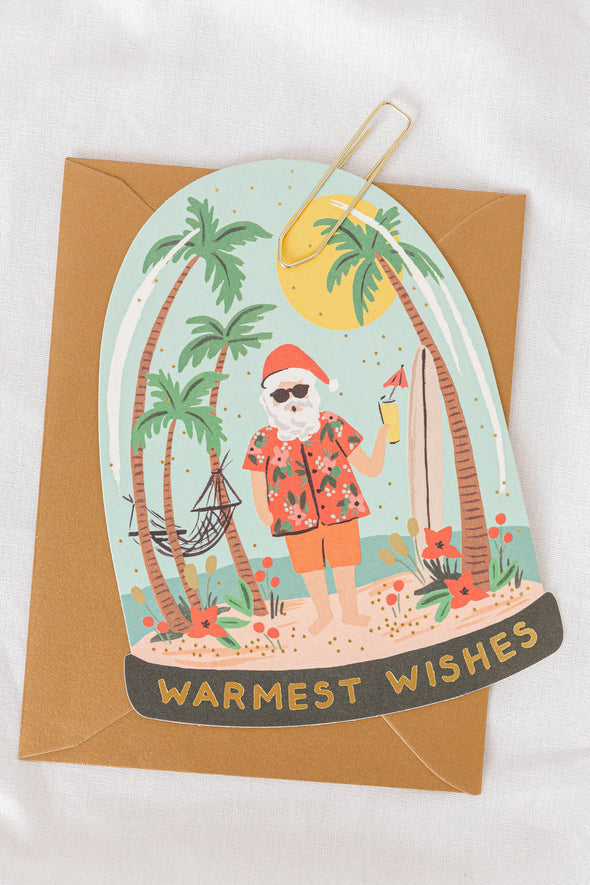 Warmest Wishes Santa Card