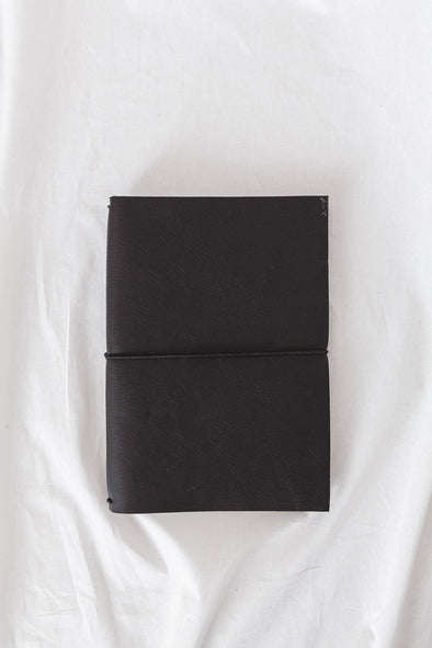 Savan Leather Notebook Black
