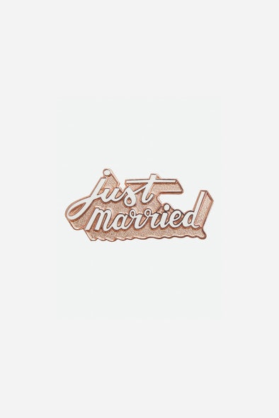 Just Married Enamel Pin