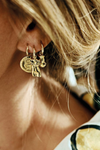 Single Serpent Coin Earring