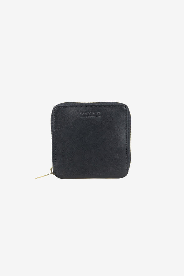 Sonny Square Wallet Stromboli Leather Black