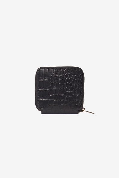 Sonny Square Wallet Croco Leather Black