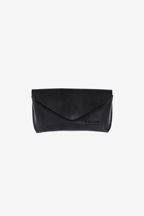 Spectacle Case Black - O My Bag - Black eco leather spectacle case magnetic closure
