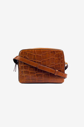 Sue Cognac Croco Classic Leather