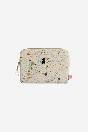Iona Ipad Case Brigitte - La Cerise Sur Le Gateau - ipad case with zip closure and paint spatter design