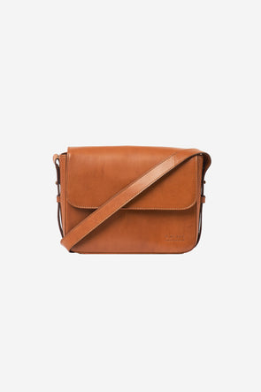 Gina Bag Cognac Classic Leather - O My Bag - Cognac Leather bag with shoulder strap