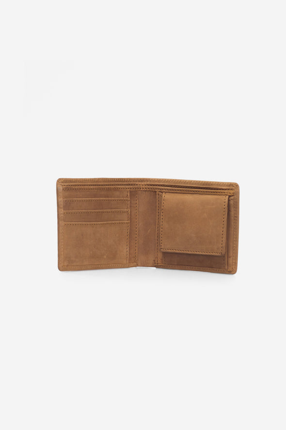 Tobi's Wallet Camel Hunter Leather - O My Bag