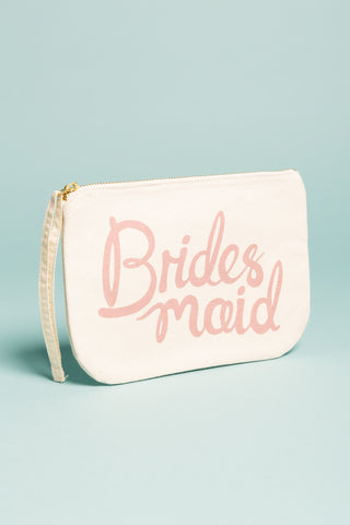 Bridesmaid Canvas Pouch Pink