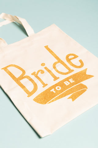 Bride To Be Tote bag Gold