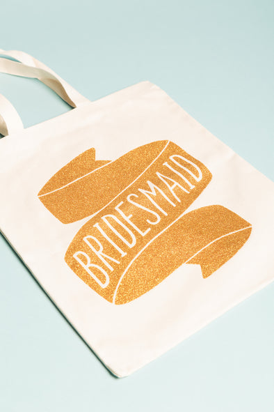 Bridesmaid Tote Bag Gold
