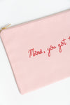 Mama Blush Pink Canvas Pouch