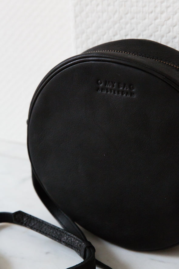 Luna Bag Midnight Black - O My Bag - Round Bag Basic Black