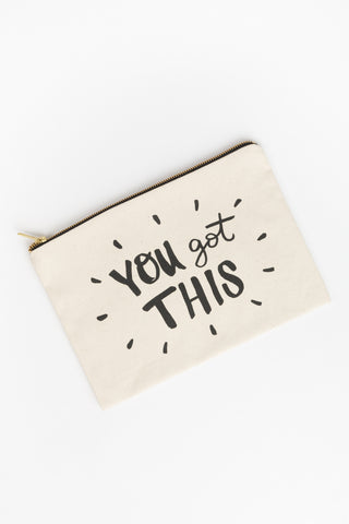 You Got This Canvas Pouch