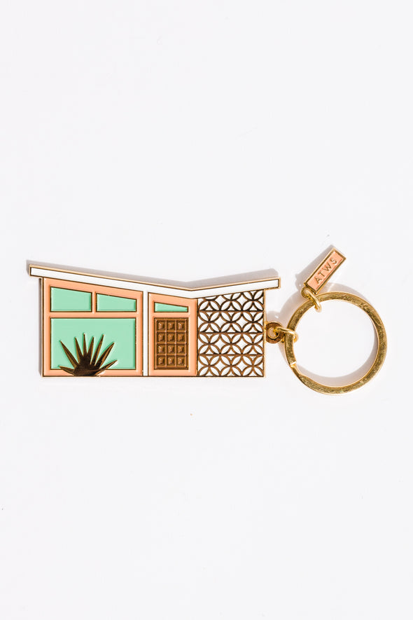 Palm Spring House Keychain