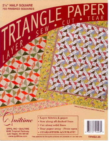 "2.25"" Half Square Triangle Paper"