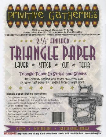 "2.5"" Half Square Triangle Paper"