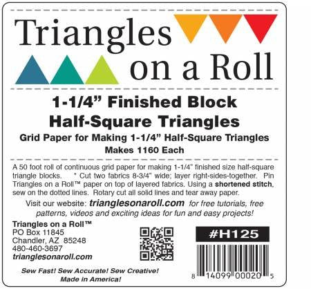 "1.25"" Half Square Triangles on a Roll"