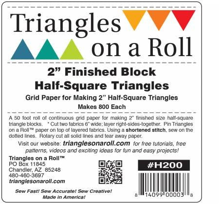 "2"" Half Square Triangles on a Roll"