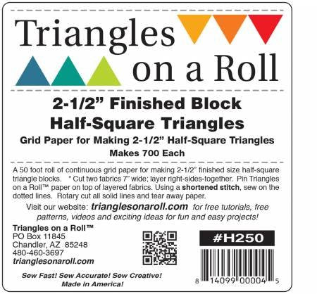 "2.5"" Half Square Triangles on a Roll"
