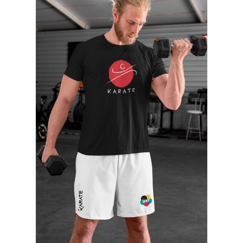 A guy training with karate Athletic Shorts - WKF