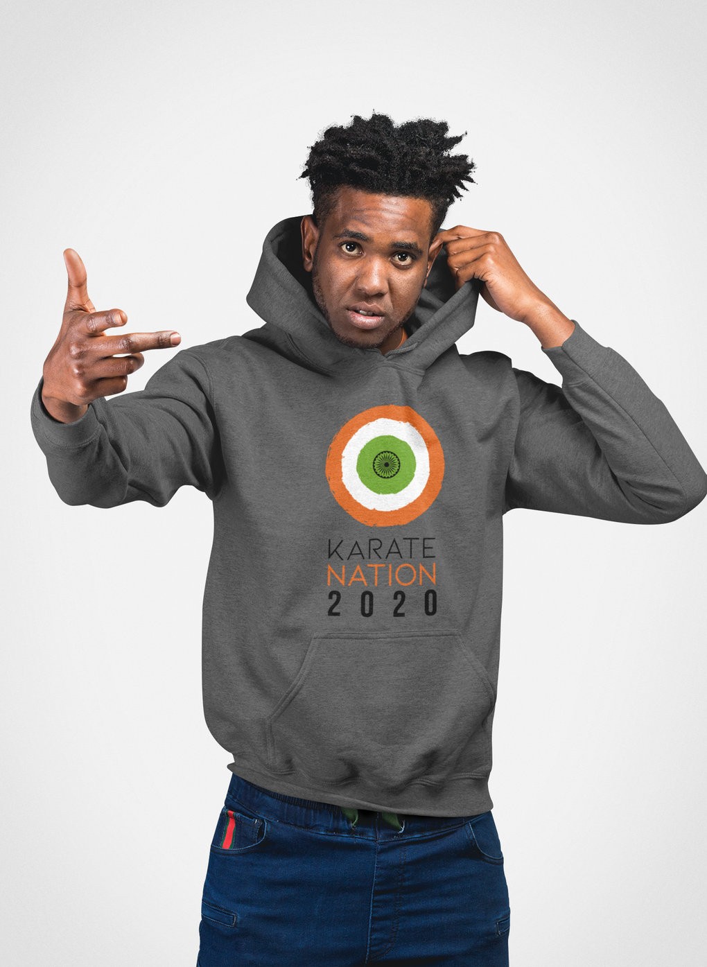 Karate Nation India Round Design Hoodie - Unisex