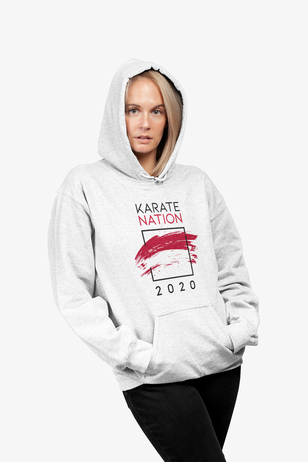 Karate Nation Indonesia Square Design Hoodie - Unisex