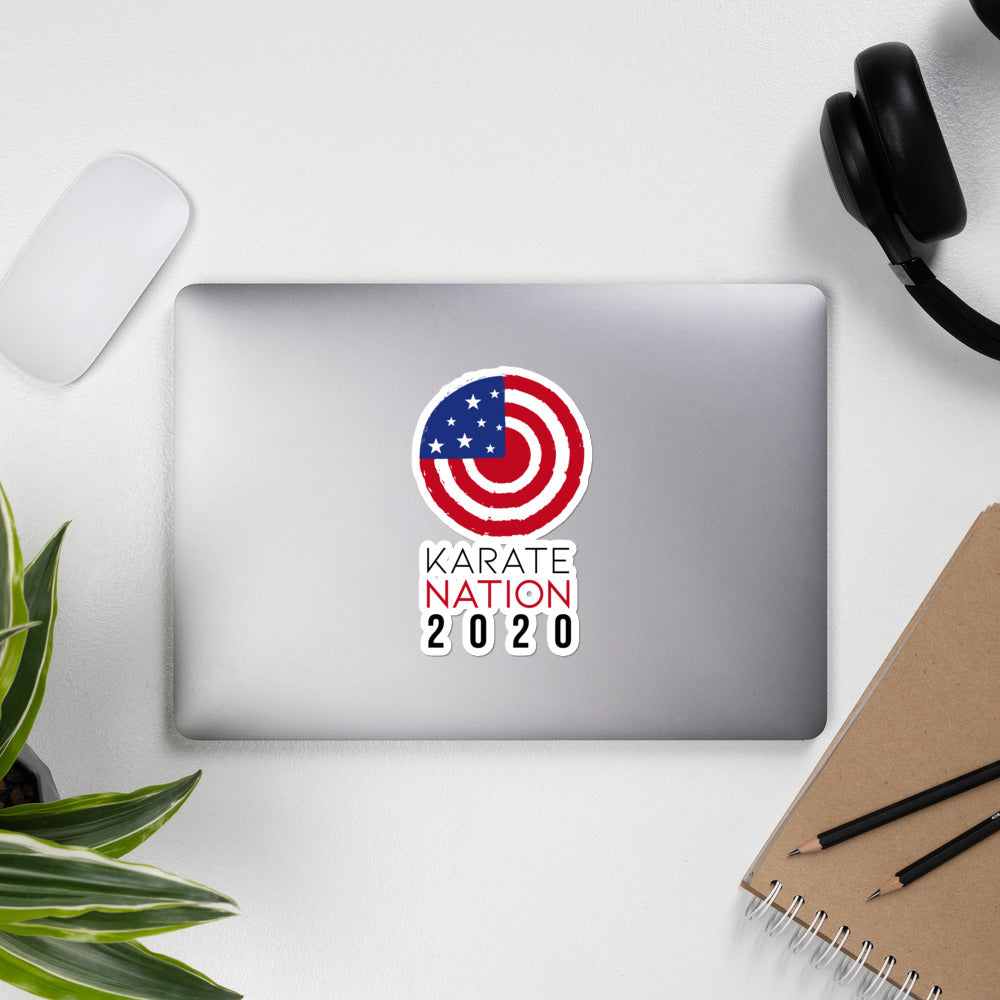 Karate Nation USA Round Design Sticker