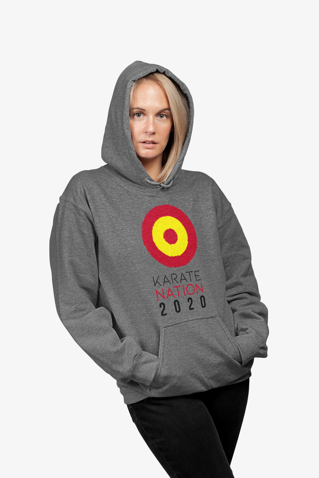 Karate Nation Spain Round Design Hoodie - Unisex