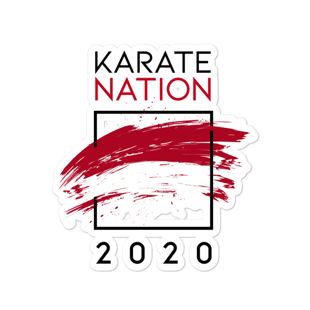 Karate Nation Indonesia Square Design Sticker