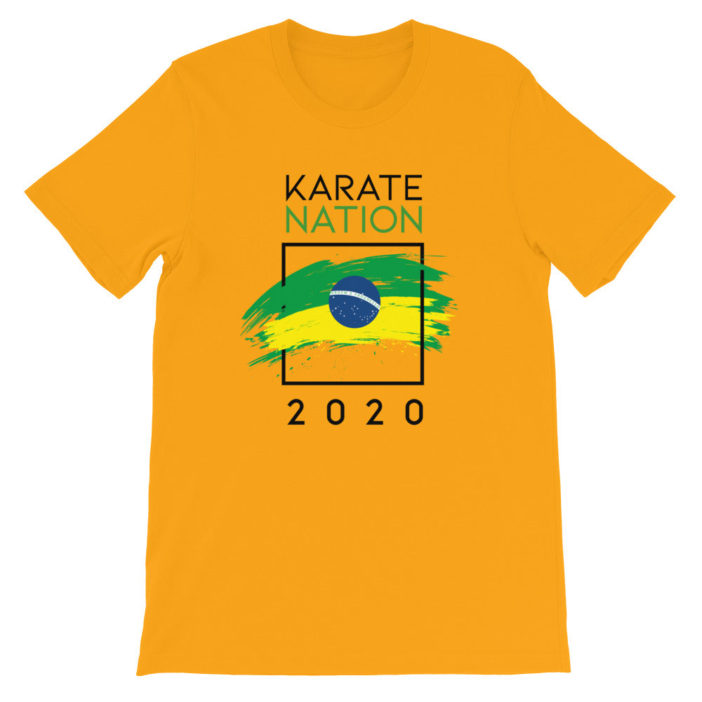 Karate Nation Brazil Square Design T-Shirt - Unisex