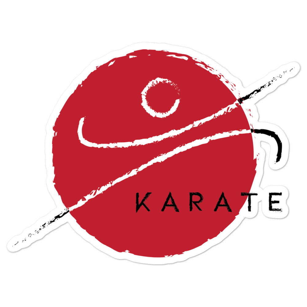 Red Karate K Sticker