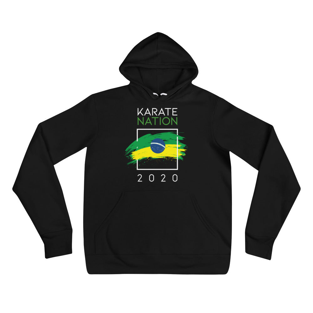 Karate Nation Brazil Square Hoodie Black - Unisex