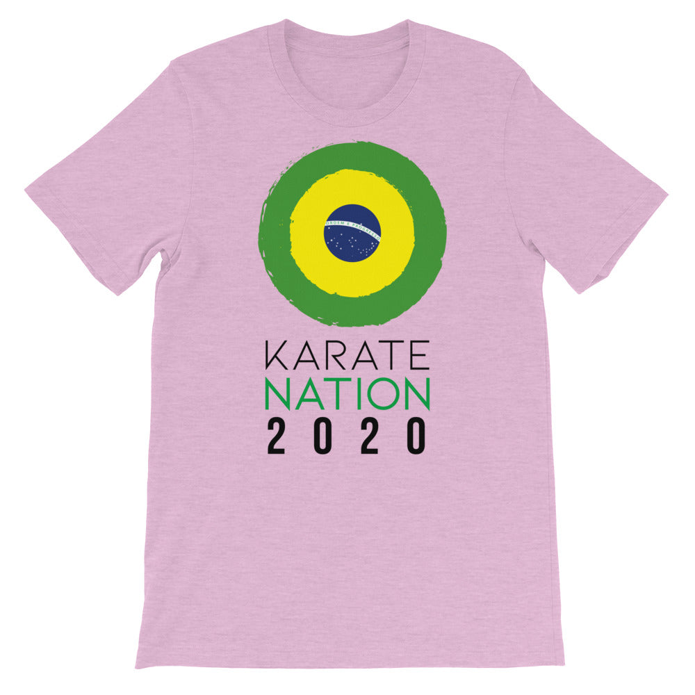 Karate Nation Brazil Round Design T-Shirt - Unisex