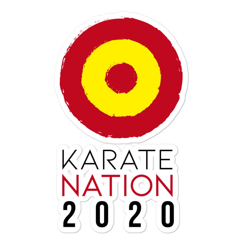 Karate Nation Spain Round Design Sticker