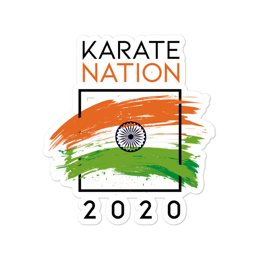 Karate Nation India Square Design Sticker