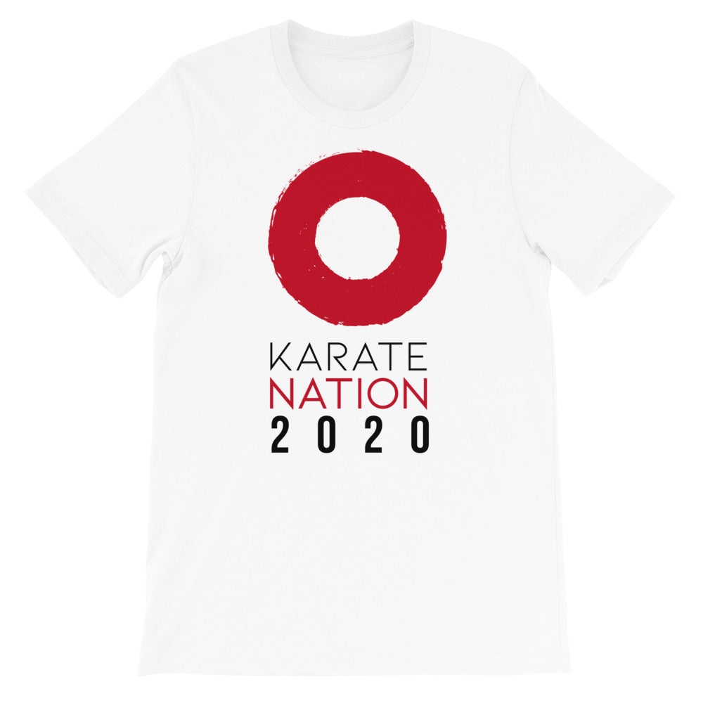 Karate Nation Indonesia Round Design T-Shirt- Unisex