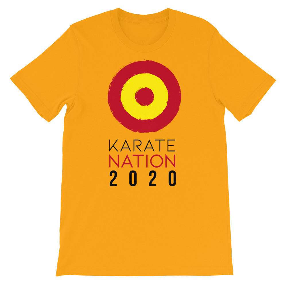 Karate Nation Spain Round Design T-Shirt - Unisex