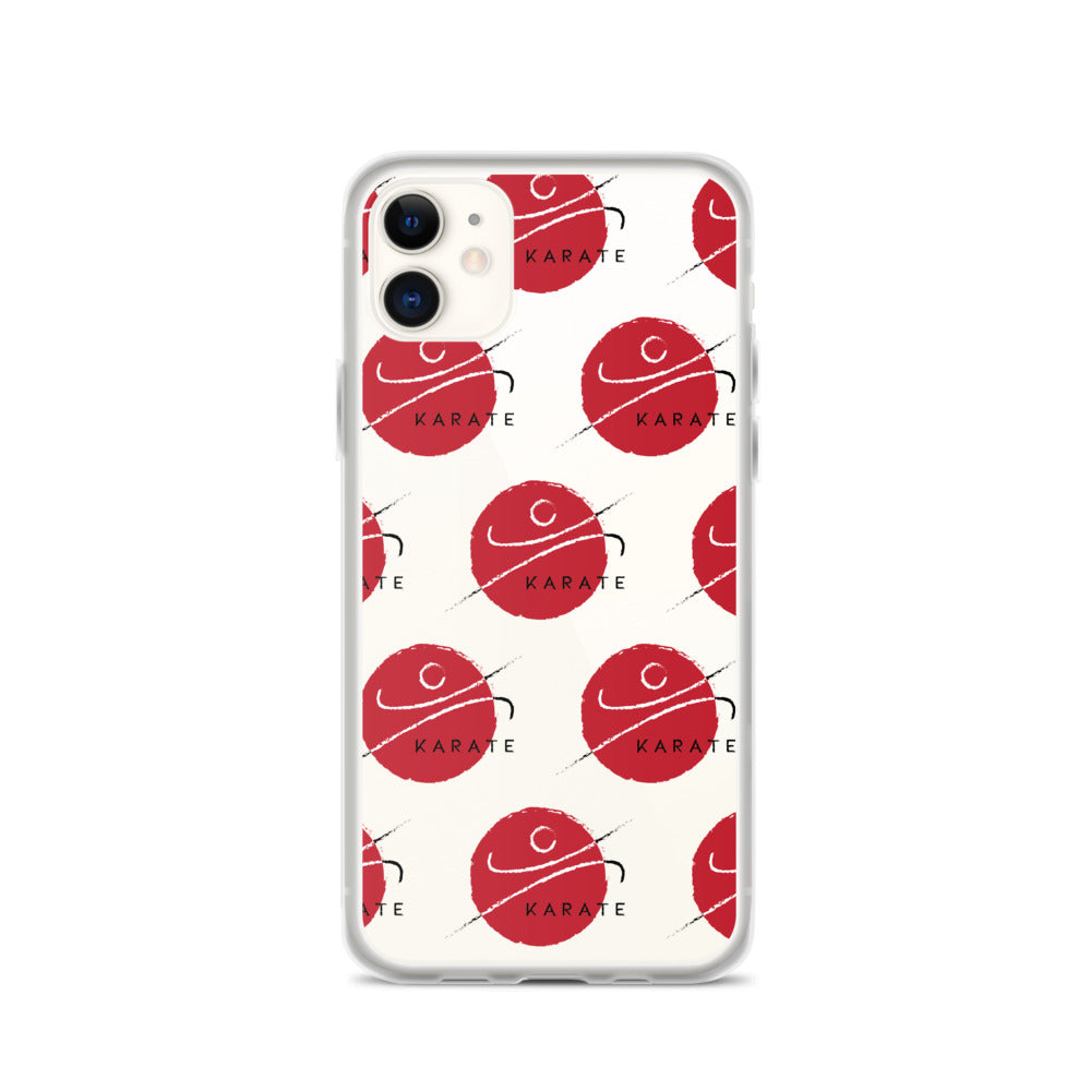 iPhone Case Round Red Karate Pattern