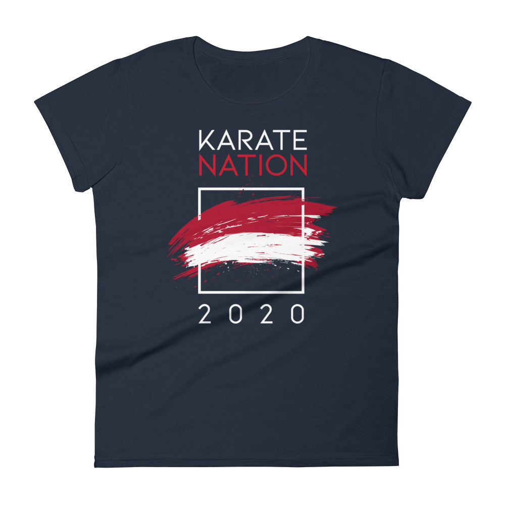 Karate Nation Indonesia Square Design T-Shirt - Women