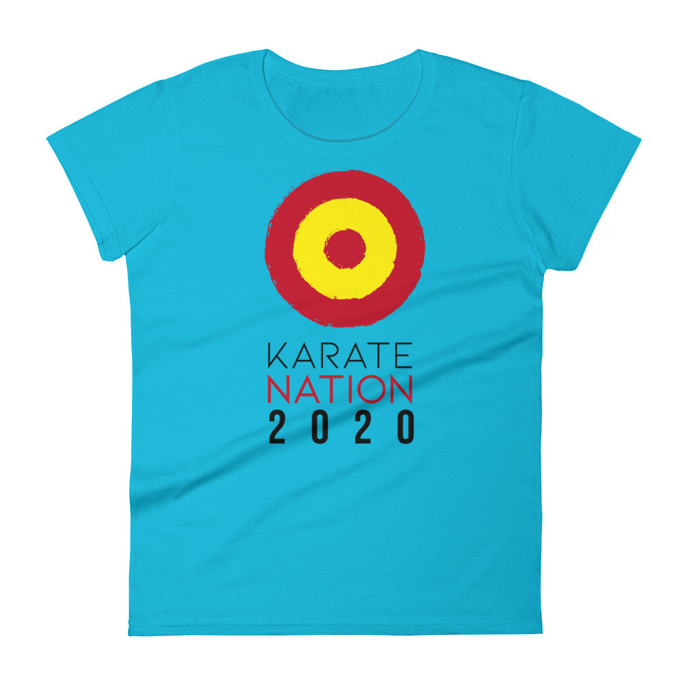 Karate Nation Spain Round Design T-Shirt - Women