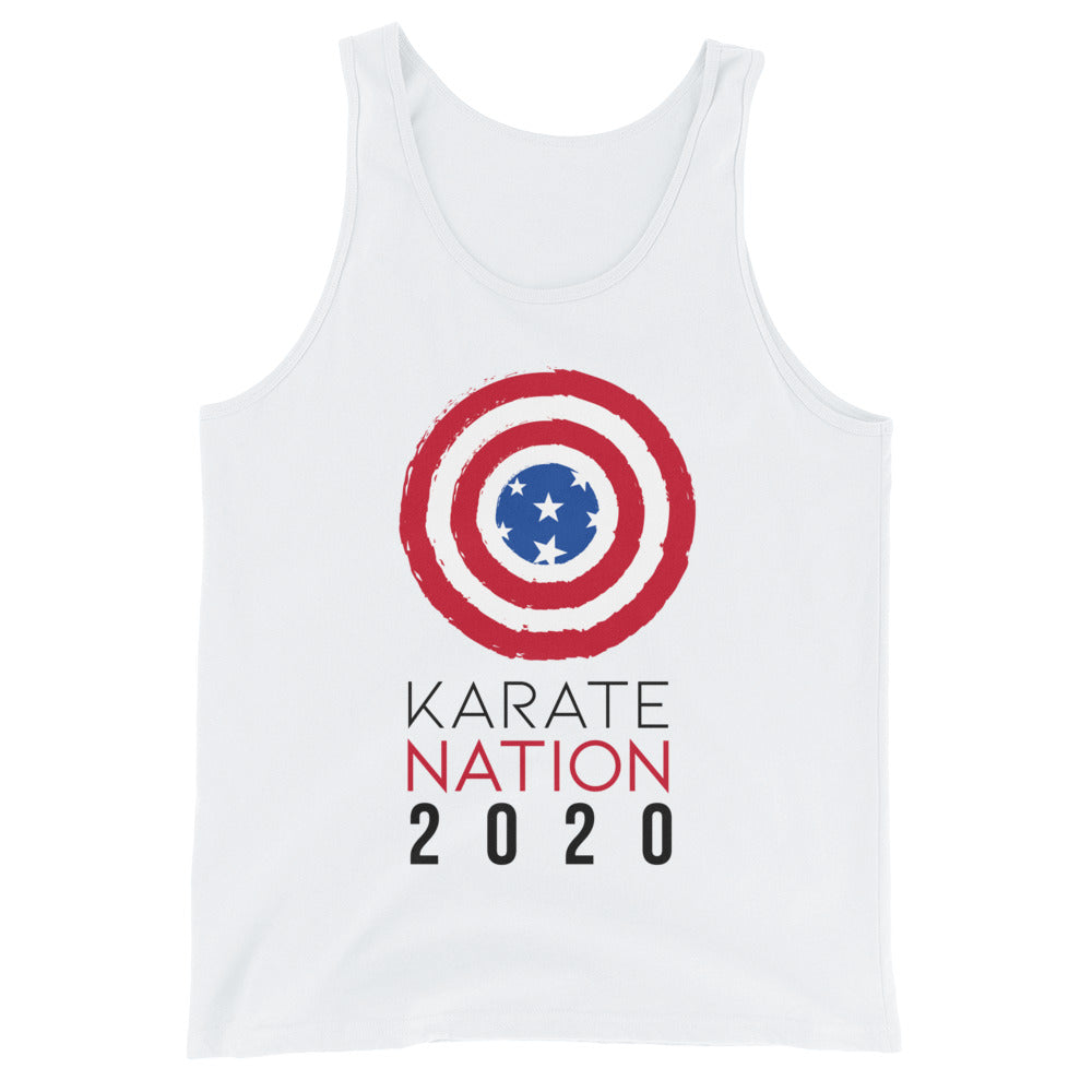 Unisex Karate Nation Usa Round Design Tank Top