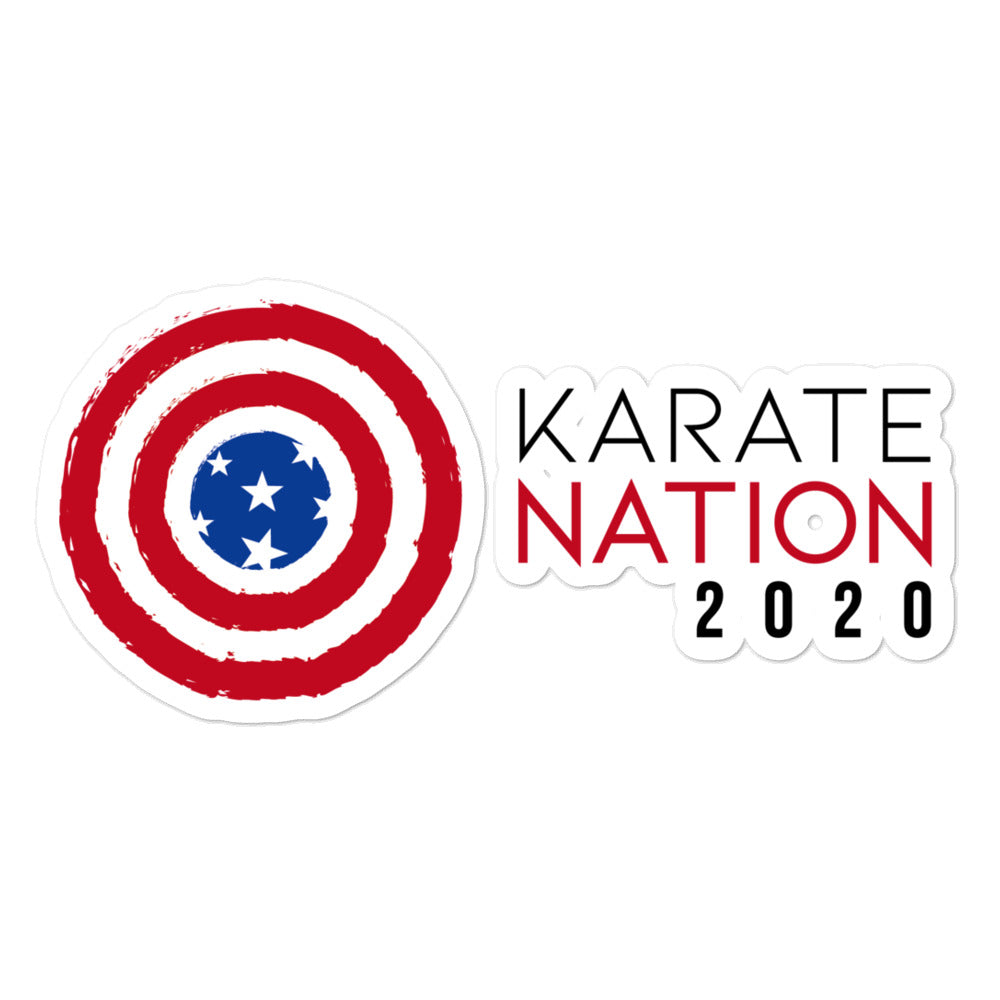 Karate Nation USA Horizontal Design Sticker