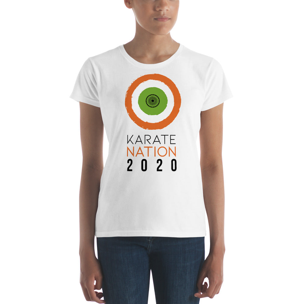Karate Nation India Round Design T-Shirt - Women