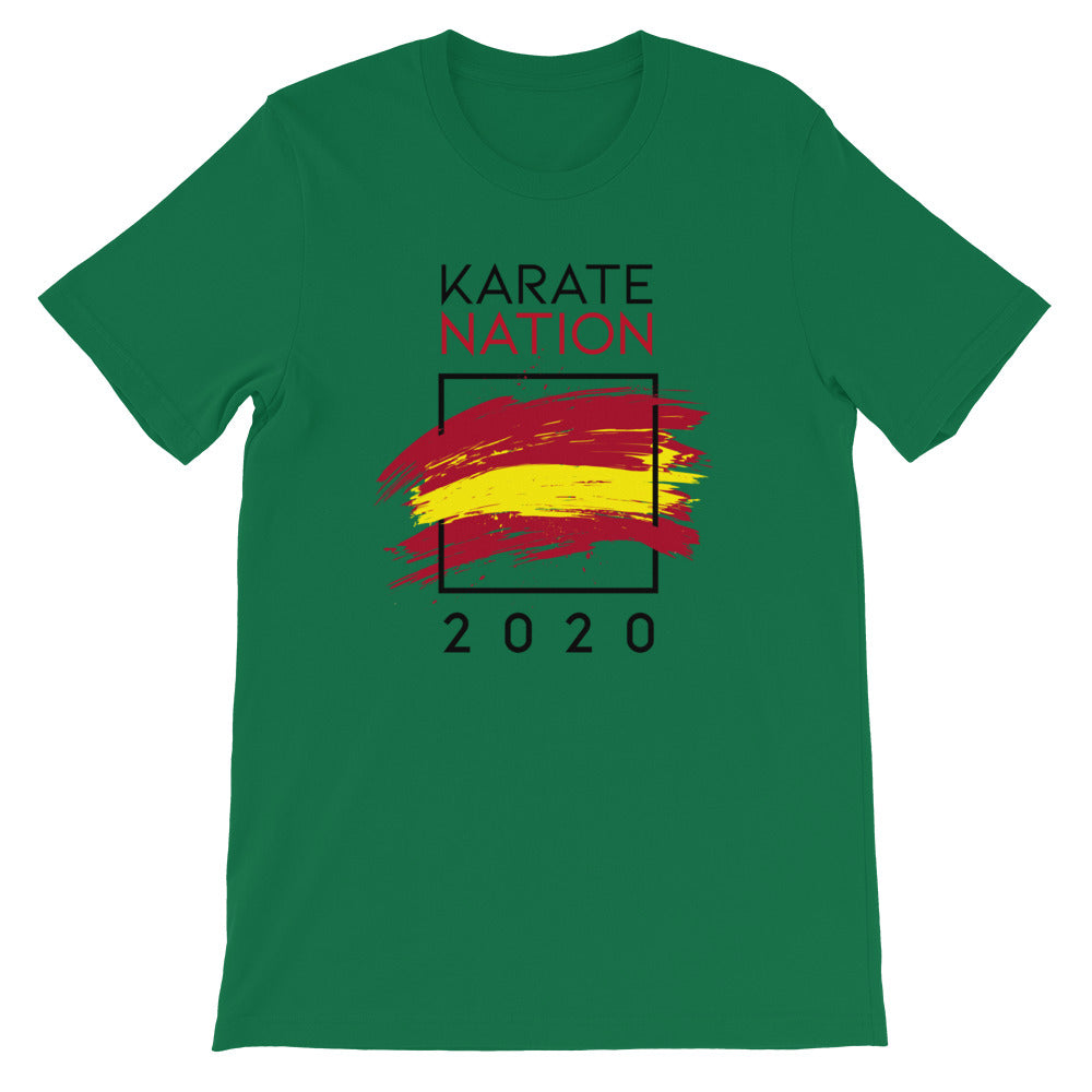 Karate Nation Spain Square Design T-Shirt - Unisex