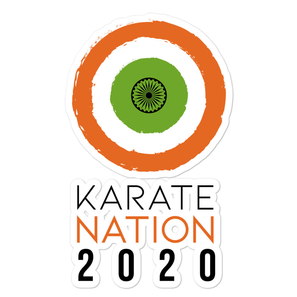 Karate Nation India Round Design Sticker