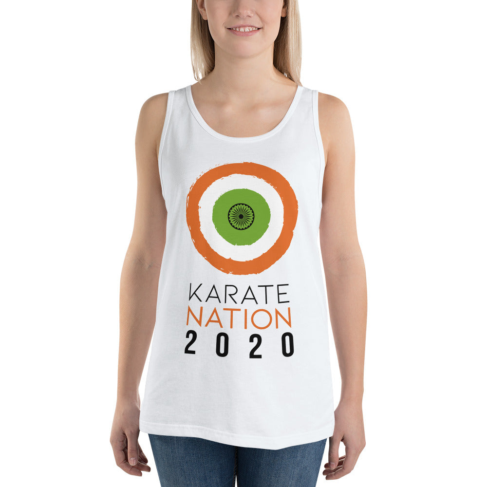 Karate Nation India Square Design Tank Top - Unisex