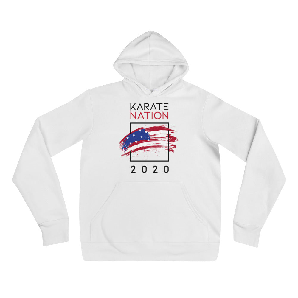 Karate Nation Usa Square Design Hoodie - Unisex