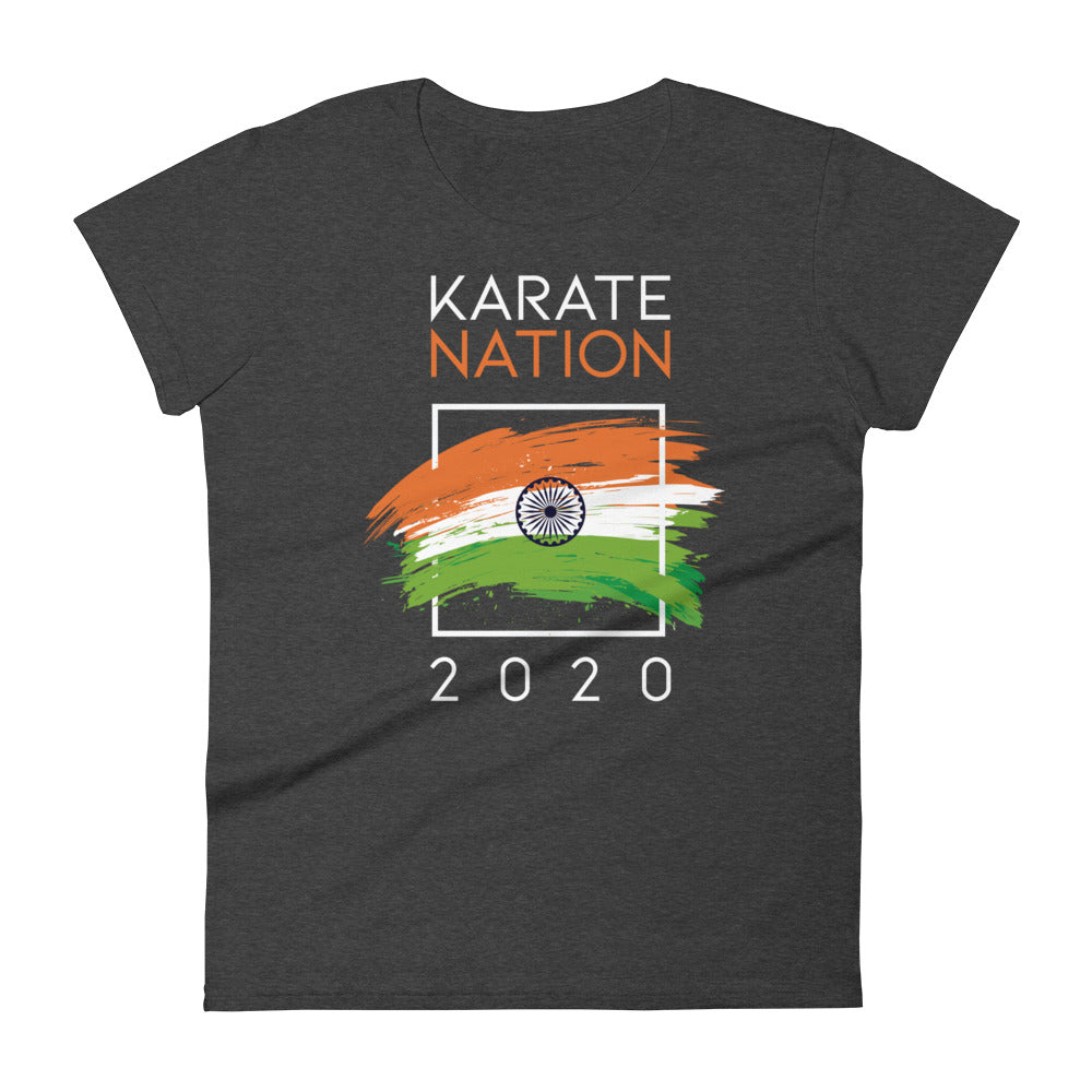 Karate Nation India Square Design T-Shirt - Women