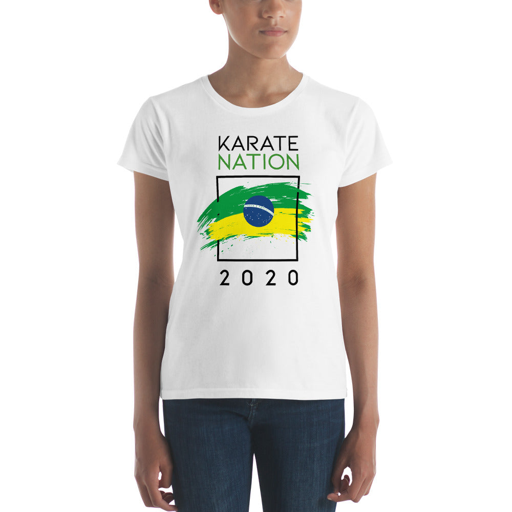 Karate Nation Brazil Square Design T-Shirt - Women