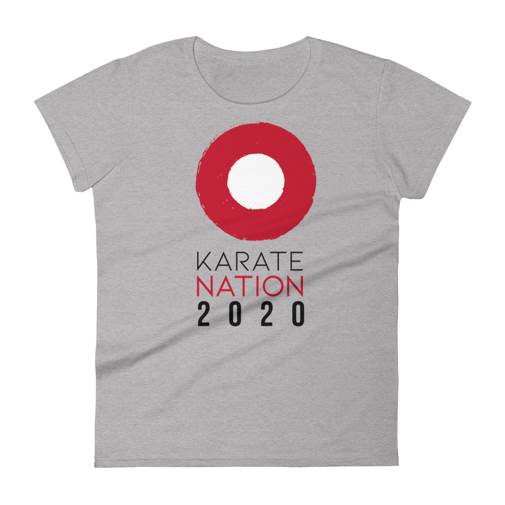 Karate Nation Indonesia Round Design T-Shirt - Women
